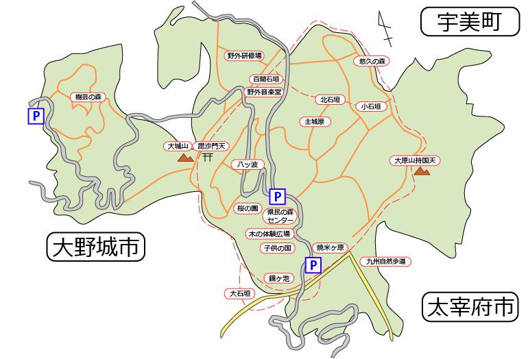 県民の森マップ